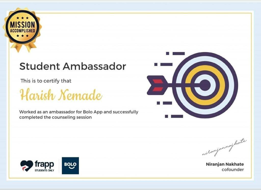 Frapp X Bolo - Student Ambassador